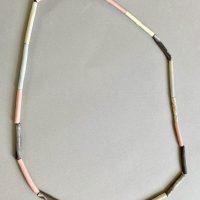 Porcelain tube bead Necklace Liquorice twist